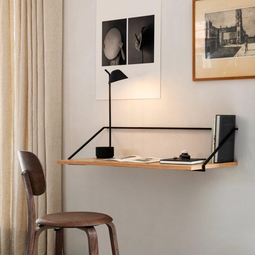 Home office furniture essentials: Rail Wall Desk by Keiji Ashizawa for Menu