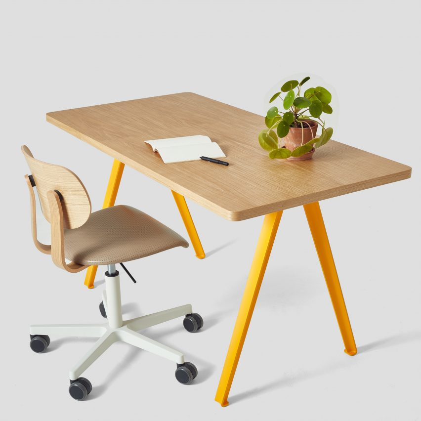 A-Frame Canteen Desk by Very Good & Proper