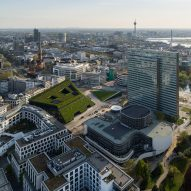 Ingenhoven Architects wraps Düsseldorf office with five miles of hedges to create Europe's largest green facade