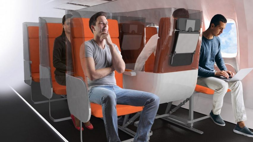 Daily coronavirus architecture and design briefing: Aviointeriors proposes yin-yang seating for safer flying