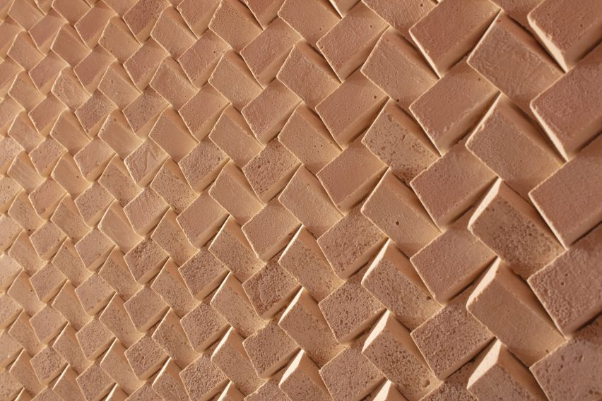 "Mále Uribe Forés makes ""living"" wall tiles from Chilean desert salt"