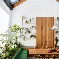Austin Maynard Architects adds plant-filled conservatory in centre of Newry house
