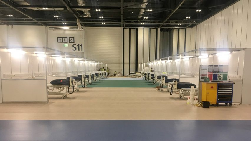 Coronavirus hospital NHS Nightingale at London's ExCel Centre by BDP