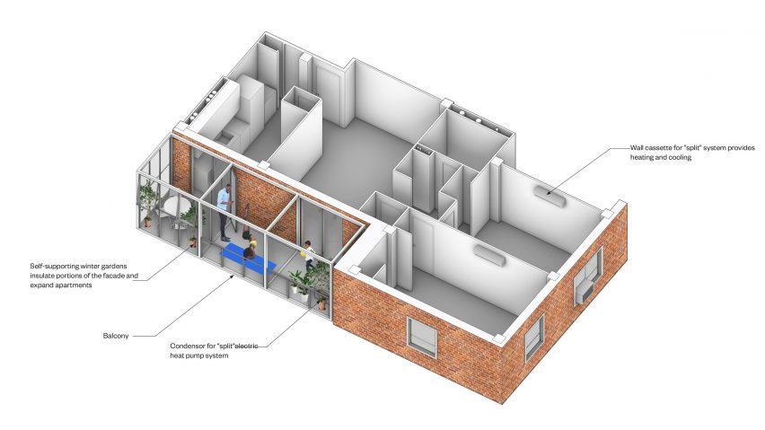 PRO balcony diagram for NYCHA
