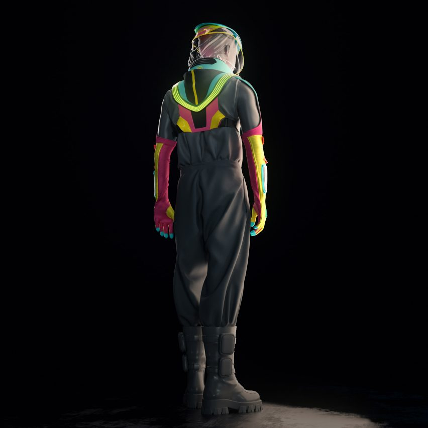 Production Club designs drink- and vape-friendly PPE suit for clubbing during a pandemic