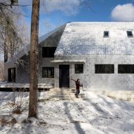 Aluminium shingles encase faceted Massachusetts house by Bryanoji Design Studio