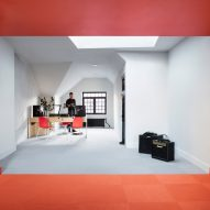 Orange performance room stands out at Yale University's radio station