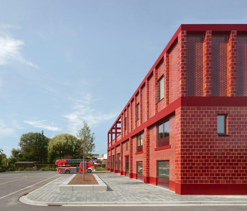 Red Fire Station Wilrijk by Happel Cornelisse Verhoeven