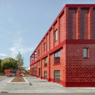Happel Cornelisse Verhoeven builds bright red fire station in Antwerp