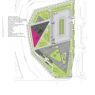 Springdale Library by RDH Architects Site Plan