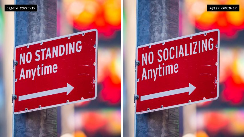 NYC Social Distancing Signs