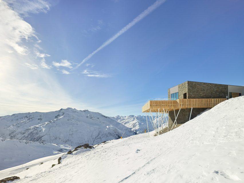 Gütsch restaurant complex at Mount Gütsch, Andermatt, Switzerland, by Studio Seilern Architects
