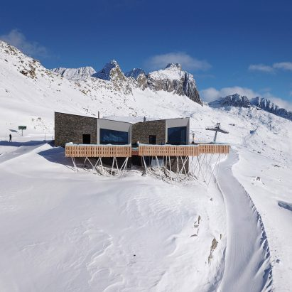 Gütsch restaurant complex at Mount Gütsch, Andermatt, Switzerland, by Studio Seilern Architects