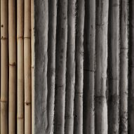 Bamboo-formed concrete walls