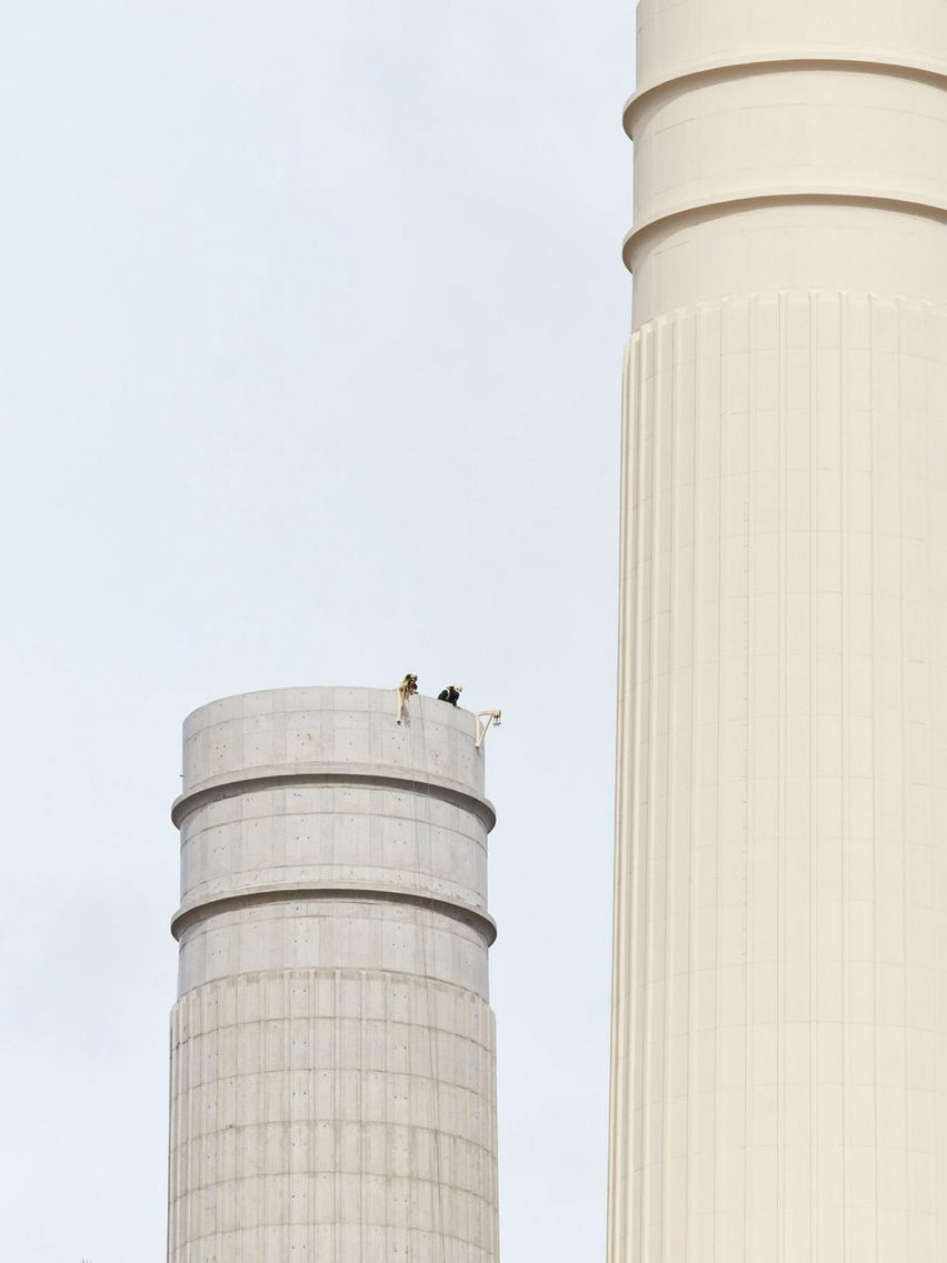 Battersea Power Station chimneys by Dennis Gilbert