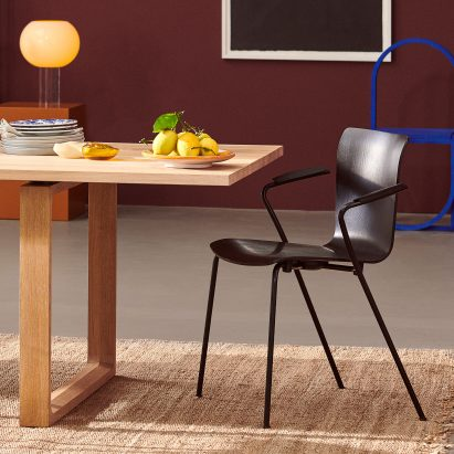 Fritz Hansen rereleases Vico Duo chair by Vico Magistretti