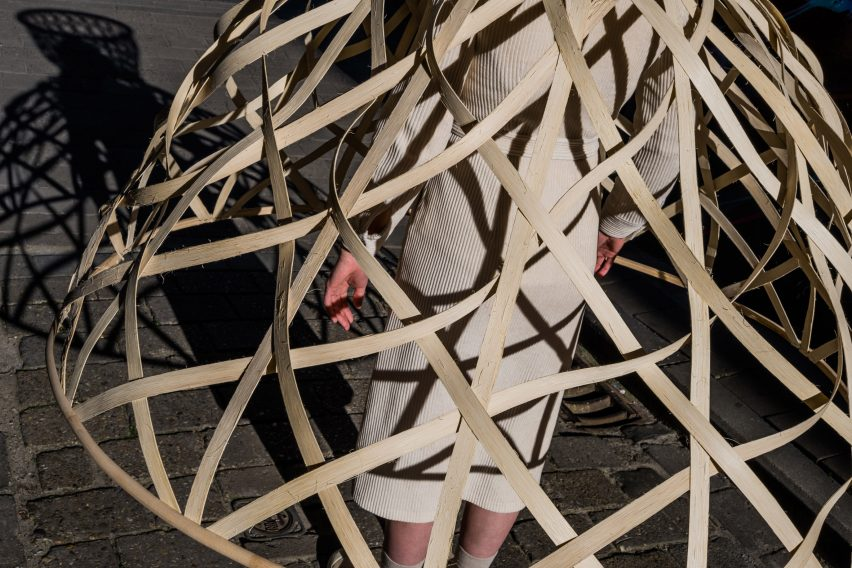Livable's Well-Distance-Being represents social distancing as wearable rattan cages