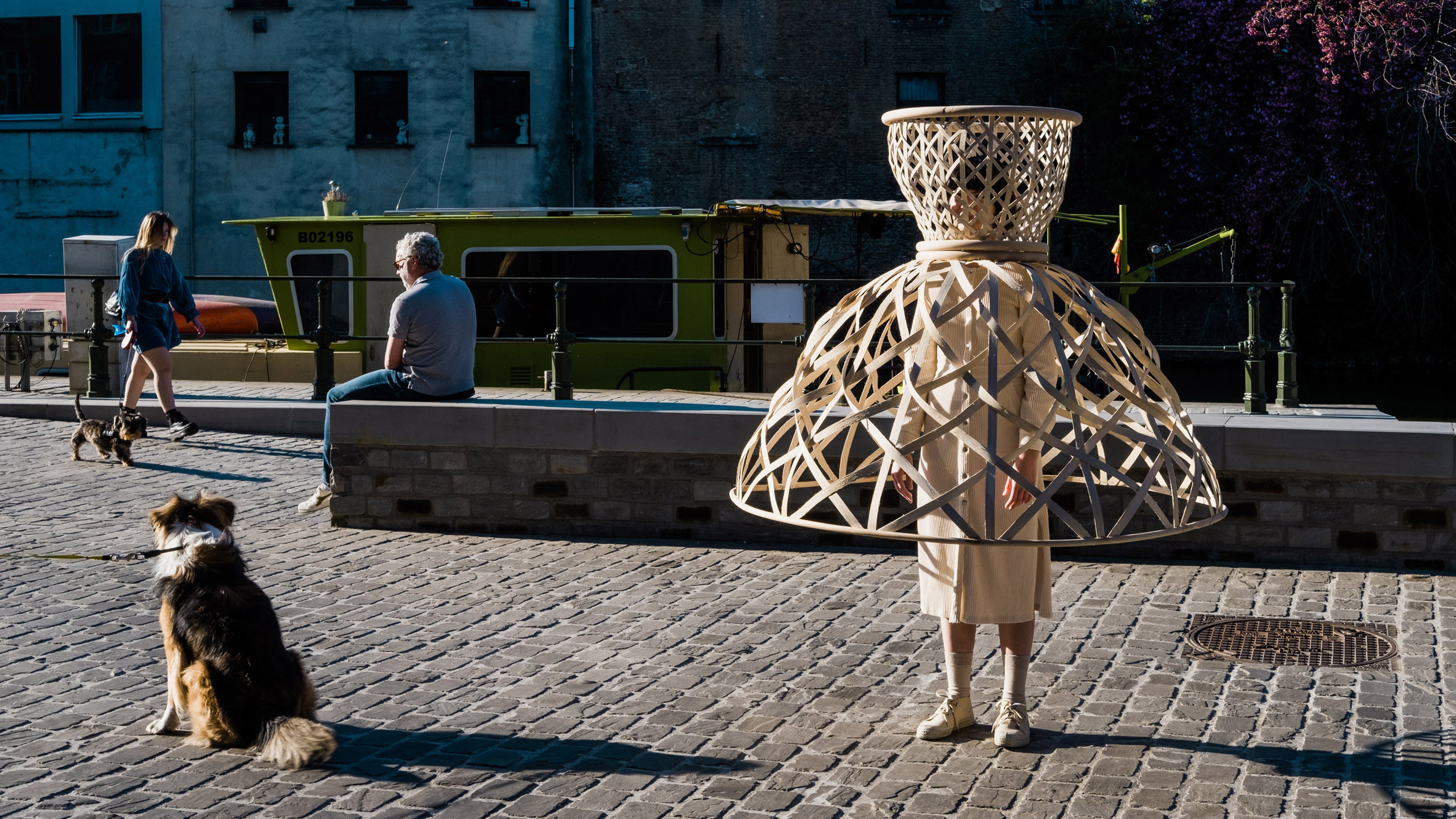 Livable's Well-Distance-Being project encourages social distancing with wearable rattan cages