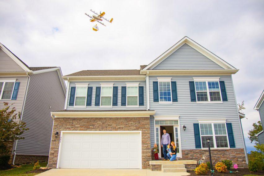 Service de livraison de drone à voiles par Google