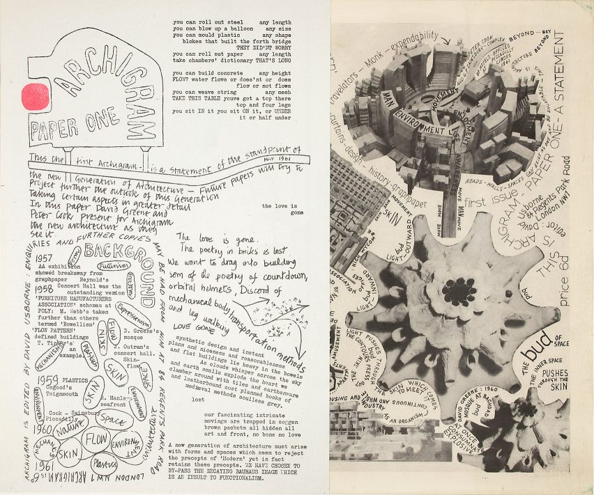 Issue one of the Archigram magazine was published in 1961