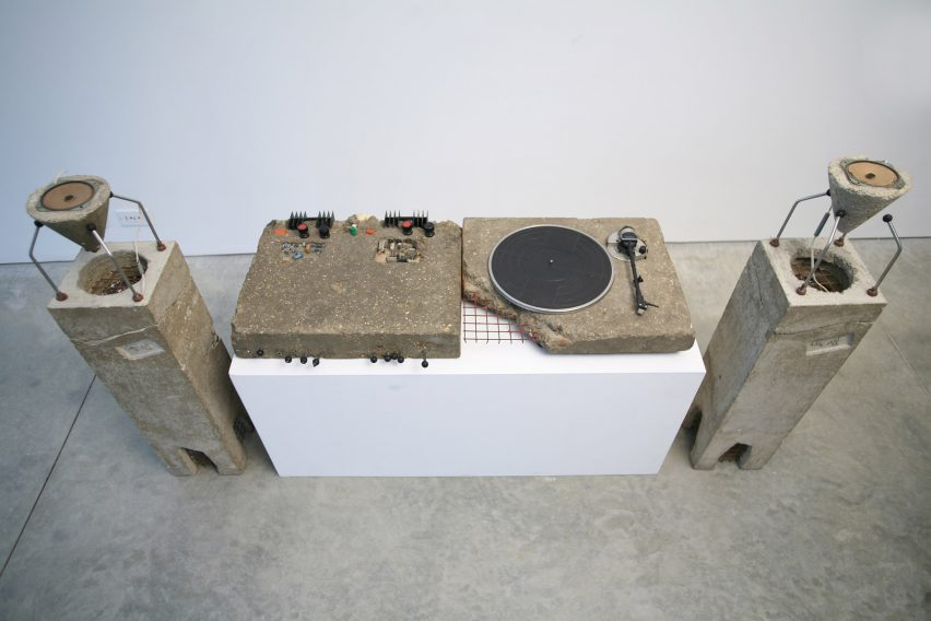 Concrete Stereo by Ron Arad
