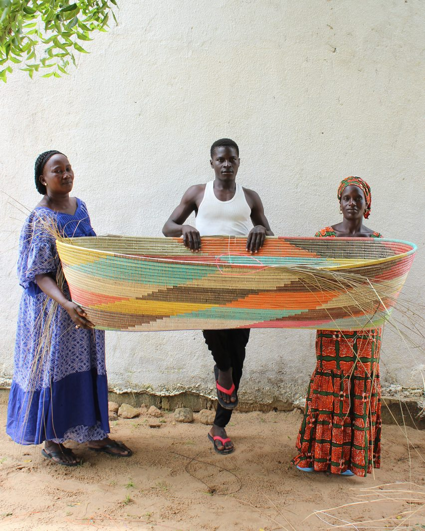 Stephen Burks Man Made basket weaving in Senegal