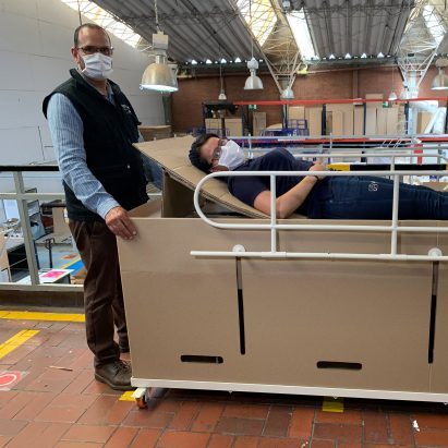 Emergency bed and coffin by ABC Displays