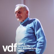 "We entered the Pompidou competition ""against my will"" says Richard Rogers in VDF lecture"