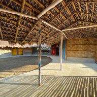Centre for displaced Rohingya women built from bamboo in Bangladesh