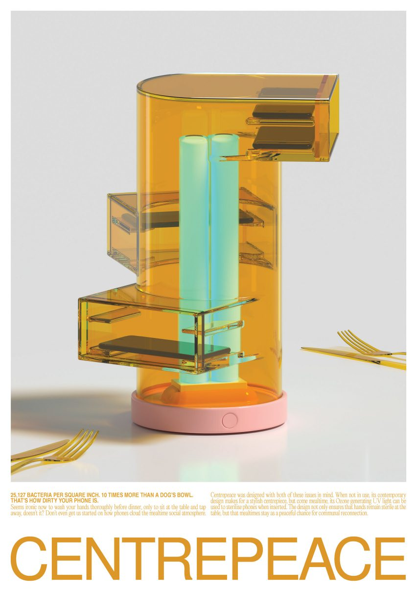 Winners of Bompas & Parr's Fountain Of Hygiene competition for hand sanitising design