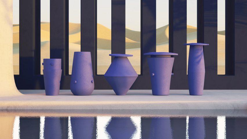 BZippy & Co.'s oversized ceramics mimic Brutalist architecture