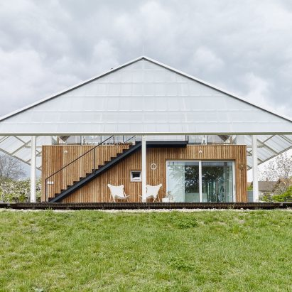 House with a greenhouse in Chlum, Czech Republic, by RicharDavidArchitekti