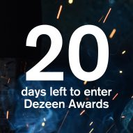 Just 20 days left to save 50 per cent on all Dezeen Awards studio categories
