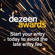 Start your Dezeen Awards entry today to avoid late entry fees