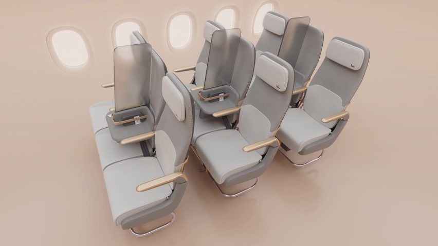 Factorydesign creates Isolation passenger screen for social distancing on planes
