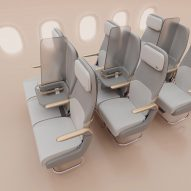 Factorydesign proposes Isolation screen for social distancing on planes