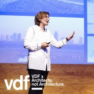 """We already had an office before we finished school"" says Francine Houben in VDF lecture"