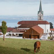 Corten and concrete school overlooks Lake Geneva