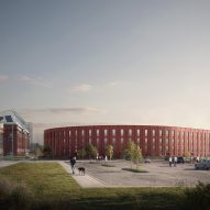 Graeme Nicholls Architects designs stadium-shaped housing block alongside Ibrox in Glasgow