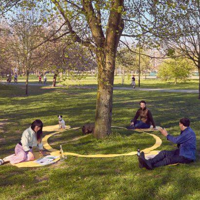 Paul Cocksedge designs social distancing picnic blanket for life after lockdown