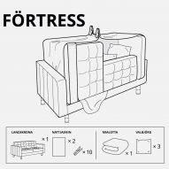 IKEA designs forts for children in lockdown