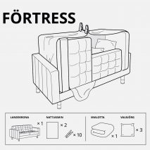 IKEA Russia designs for forts children in lockdown