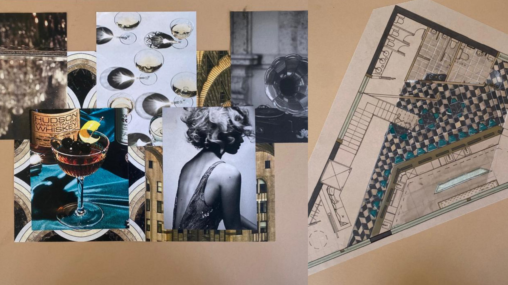 Venti: Speakeasy & Oyster bar by UAL student Cristina Iazzetta at VDF student show