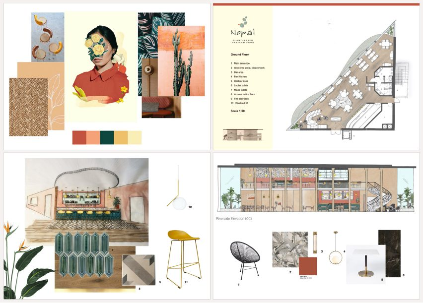 Nopal: A Sophisticated Mexican Restaurant and Tapas Bar by UAL student Ella Forster for VDF student show
