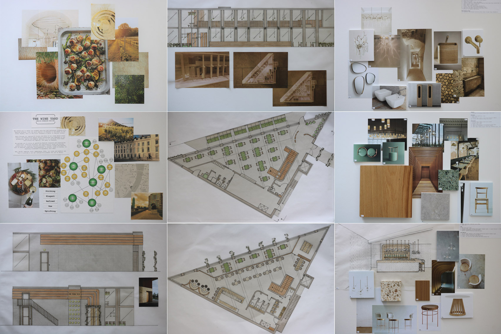 The Wine Yard: English Sparkling Wine Bar by UAL student Christine Newmanfor VDF student show