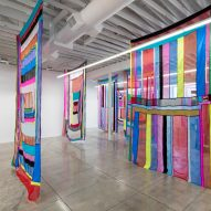Land Lines installation reimagines landscapes in hanging fabrics