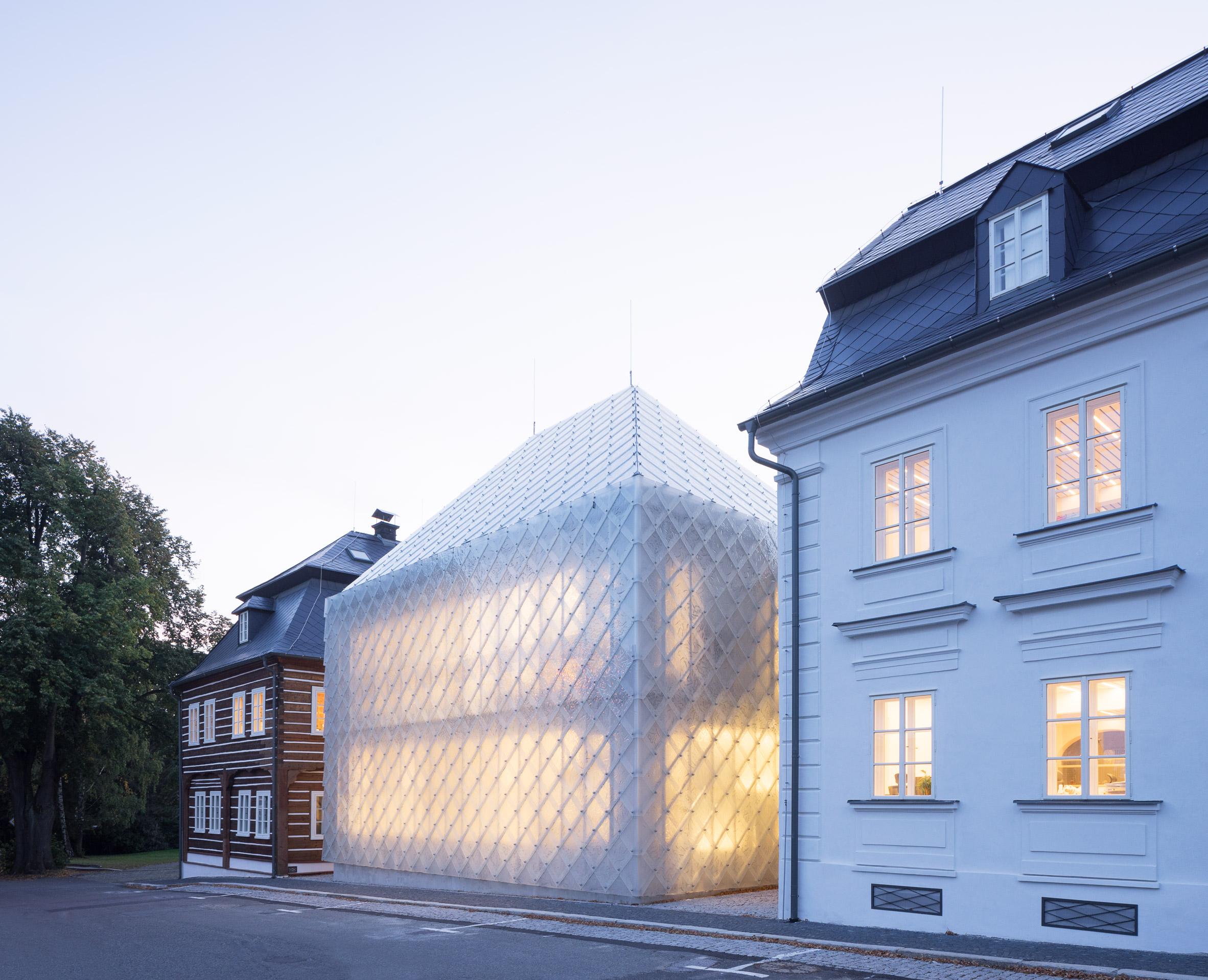 Headquarters for glass company Lasvit in Nový Bor, Czech Republic, by Ov-a Architekti Studio