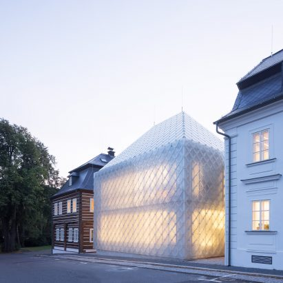 Headquarters for glass company Lasvit in Nový Bor, Czech Republic, by Ov-a Architekti Studio