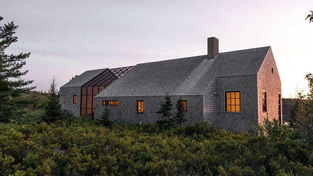 Couple builds themselves cedar-clad retreat Little Peek on Maine island