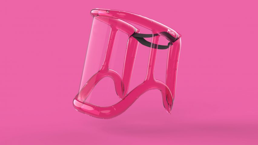 Soffio inflatable face shieldbyMARGstudio, Alessio Casciano Design and Angeletti Ruzza